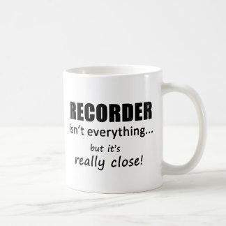 El registrador no es todo taza
