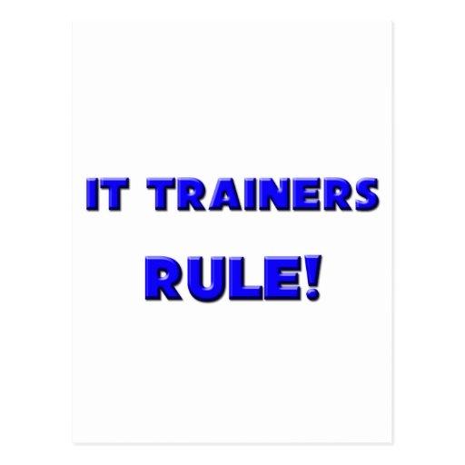 ¡Él regla de los instructores! Postal