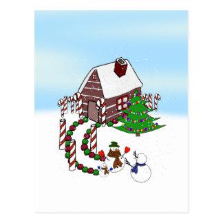 El regreso al hogar - el mejor regalo que usted pu tarjeta postal