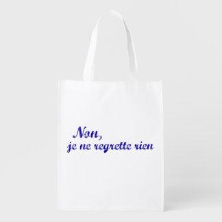 """El regrette francés del ne del je de la frase """"no bolsa para la compra"""