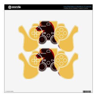 El regulador de Playstation pela el extracto del Skins Para Mando PS3