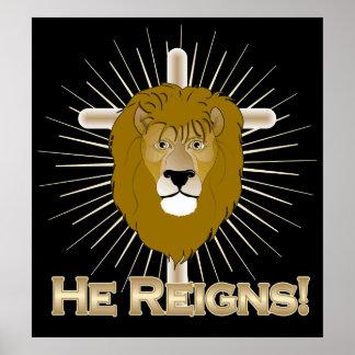 ¡Él reina! LEÓN del POSTER de JUDAH