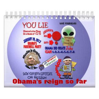 El reinado de Obama Calendario