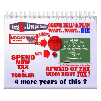 El reinado de Obama Calendario De Pared