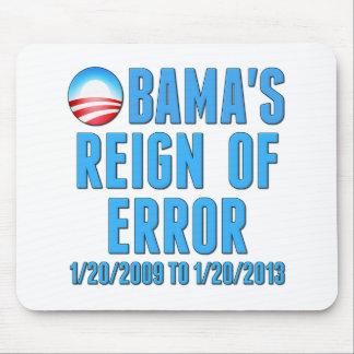 El reinado de Obama del error 1/20/2009 a 1/20/201 Mousepads