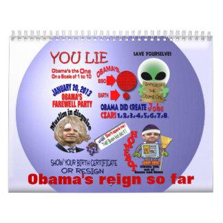 El reinado de Obama Calendarios
