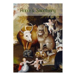 El reino apacible - santuario animal/rescate tarjetas de visita grandes