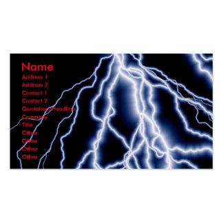 El relámpago de los desastres naturales carda tarjetas de visita