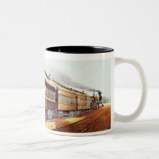 El relámpago expreso taza de café de dos colores