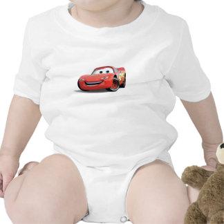 El relámpago McQueen Disney de los coches Trajes De Bebé