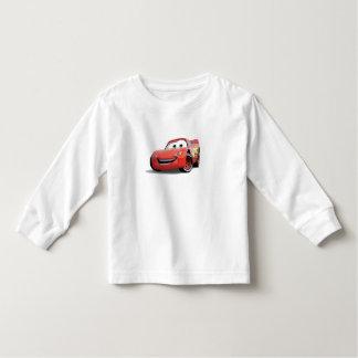 El relámpago McQueen Disney de los coches Playera De Bebé