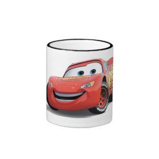 El relámpago McQueen Disney de los coches Taza De Dos Colores
