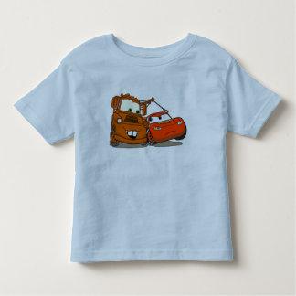 El relámpago McQueen y Mater Disney de los coches Camisas