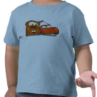 El relámpago McQueen y Mater Disney de los coches Camiseta