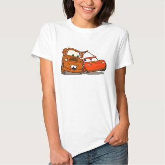 El relámpago McQueen y Mater Disney de los coches Poleras