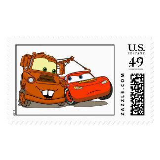 El relámpago McQueen y Mater Disney de los coches Sellos