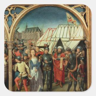 El relicario de Santa Ursula, 1489 Pegatina Cuadrada