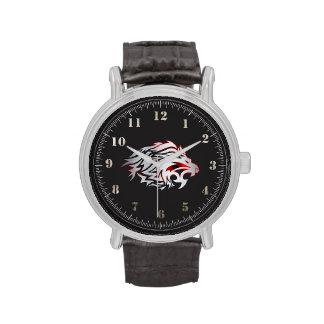 el relógio supera leão tribal relojes