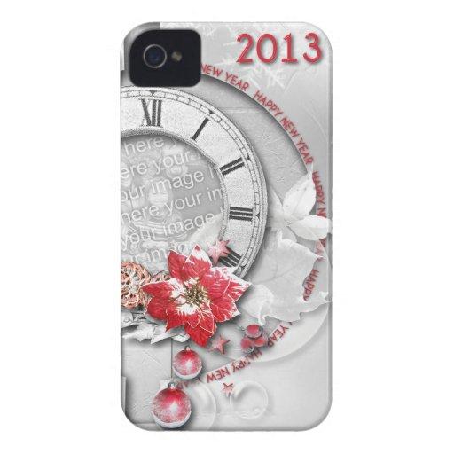 El reloj 2013 del Año Nuevo AÑADE SU FOTO Case-Mate iPhone 4 Protector