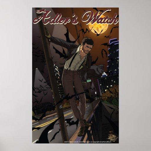 El reloj Adler de Adler y poster de los palos Póster