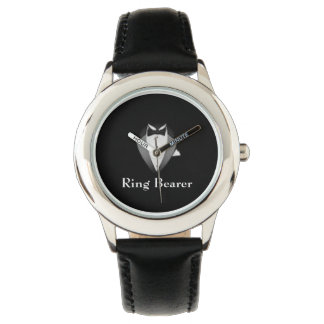El reloj ajustable de Tux del muchacho de anillo