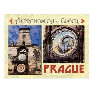 El reloj astronómico de Praga, República Checa Postal