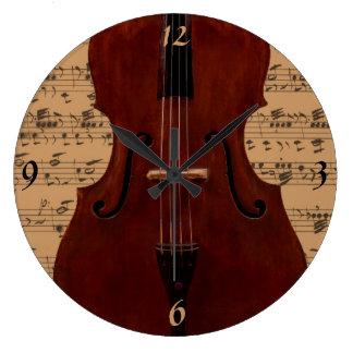 El reloj - bajo doble con música - escoja su color
