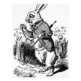 El reloj blanco del conejo y de bolsillo plantilla de membrete