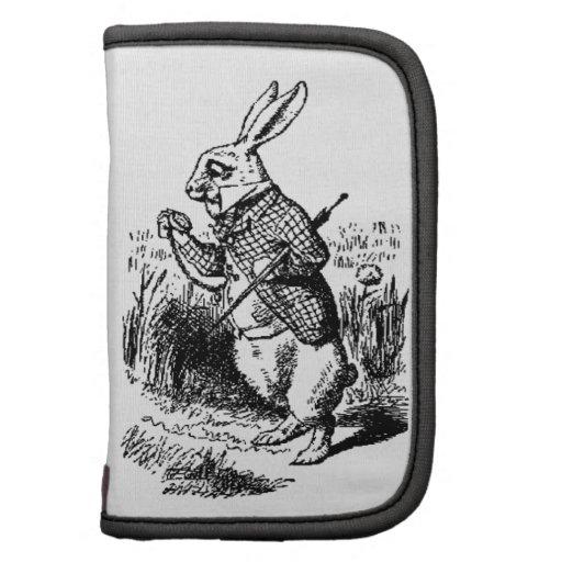El reloj blanco del conejo y de bolsillo organizadores
