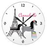 El reloj bonito del caballo de París de los potros