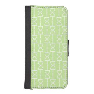 El reloj de arena en colores pastel de la verde li fundas cartera de iPhone 5
