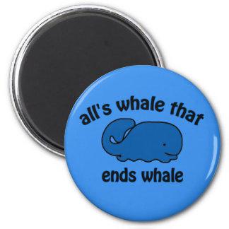 El reloj de la ballena embroma el imán divertido