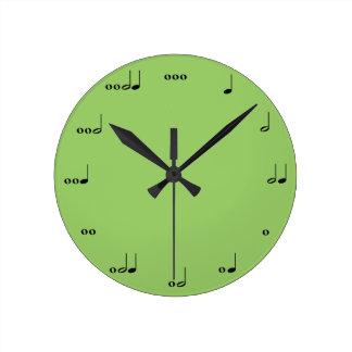 El reloj de la nota de la música original