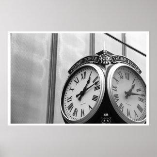 El reloj de la torre del triunfo - NYC Poster