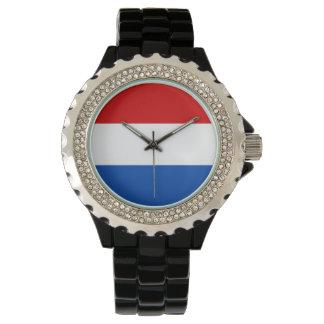 El reloj de las mujeres de Holanda - la bandera