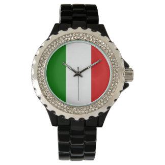 El reloj de las mujeres de Italia - la bandera de