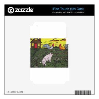 El reloj de los granjeros calcomanía para iPod touch 4G