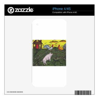 El reloj de los granjeros calcomanías para iPhone 4S