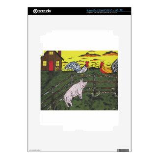 El reloj de los granjeros iPad 3 skins
