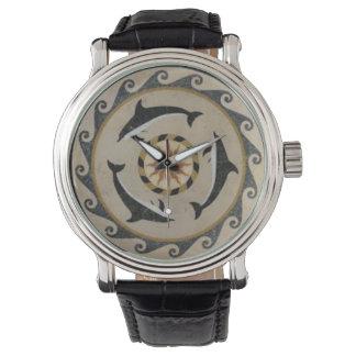 El reloj de los hombres de los delfínes de Minoan