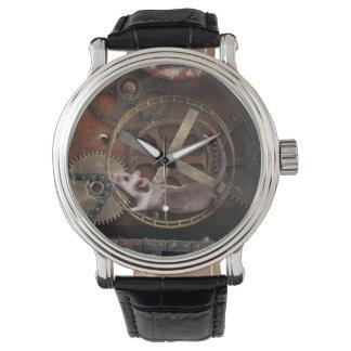 El reloj de los hombres del estilo de Steampunk
