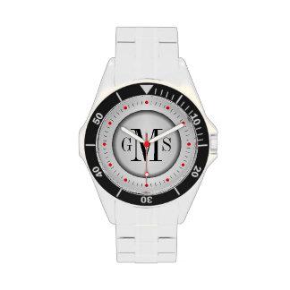 El reloj de los hombres personalizados elegantes