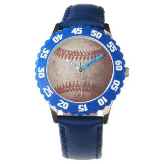 El reloj de los niños del béisbol del reloj el |