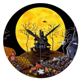 """El reloj de pared de Halloween """"guarda el correr """""""