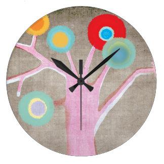 El reloj de pared embroma la decoración