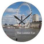 El reloj de pared redondo grande del ojo de Londre