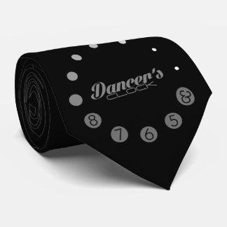 El reloj del bailarín con los números para un corbatas personalizadas