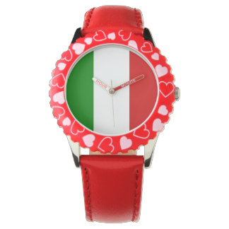 El reloj del niño de Italia - la bandera de Italia