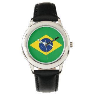El reloj del niño del Brasil - la bandera del