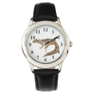 El reloj del niño del lagarto del Gecko del